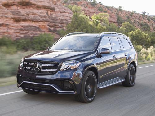 Фото автомобиля Mercedes-Benz GLS-Класс X166, ракурс: 45 цвет: черный