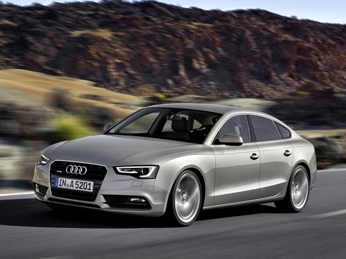 Фото автомобиля Audi A5 8T [рестайлинг], ракурс: 45 цвет: бежевый