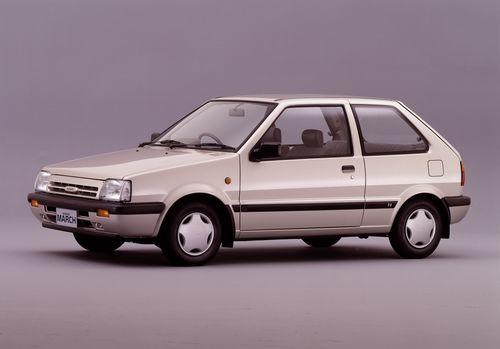 Фото автомобиля Nissan March K10 [рестайлинг], ракурс: 45 цвет: белый