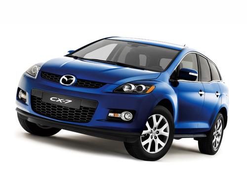 Фото автомобиля Mazda CX-7 1 поколение, ракурс: 45 цвет: синий