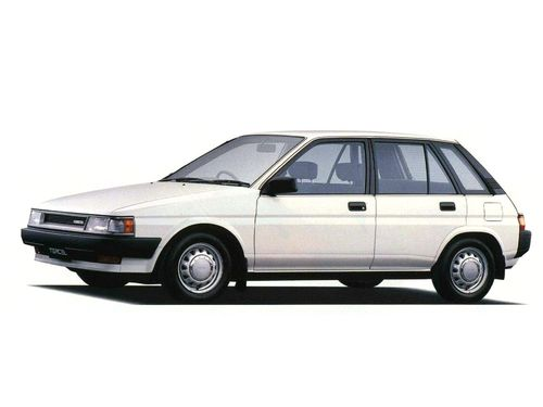Фото автомобиля Toyota Tercel L30, ракурс: 45 цвет: белый