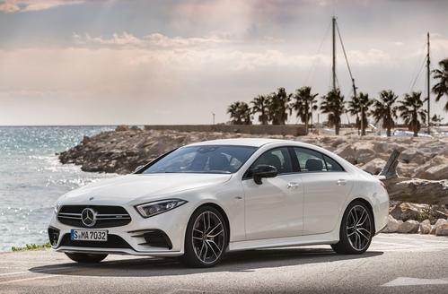 Фото автомобиля Mercedes-Benz CLS-Класс C257, ракурс: 45 цвет: серебряный