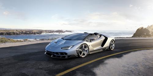 Фото автомобиля Lamborghini Centenario 1 поколение, ракурс: 45 цвет: серебряный