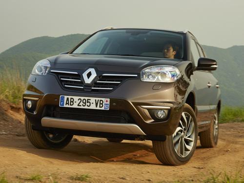 Фото автомобиля Renault Koleos 1 поколение [2-й рестайлинг], ракурс: 45 цвет: коричневый