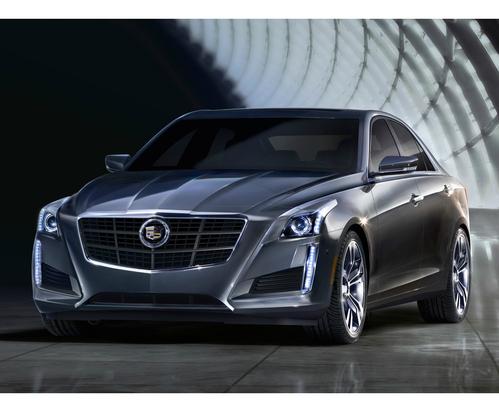 Фото автомобиля Cadillac CTS 3 поколение, ракурс: 45 цвет: серый