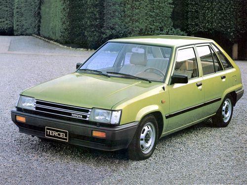 Фото автомобиля Toyota Tercel L20, ракурс: 45 цвет: зеленый