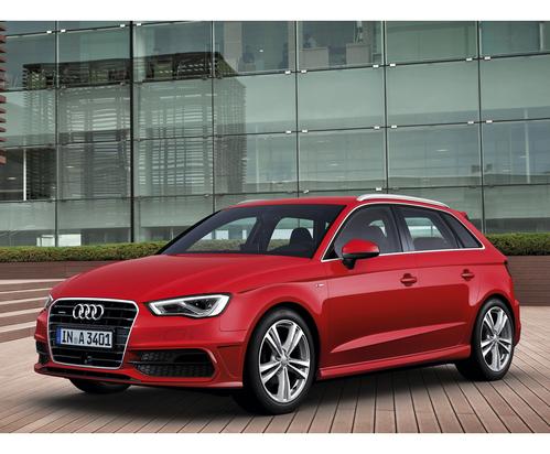 Фото автомобиля Audi A3 8V, ракурс: 45 цвет: красный
