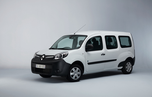 Фото автомобиля Renault Kangoo 2 поколение [рестайлинг], ракурс: 45 цвет: белый
