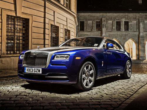 Фото автомобиля Rolls-Royce Wraith 2 поколение, ракурс: 45 цвет: голубой