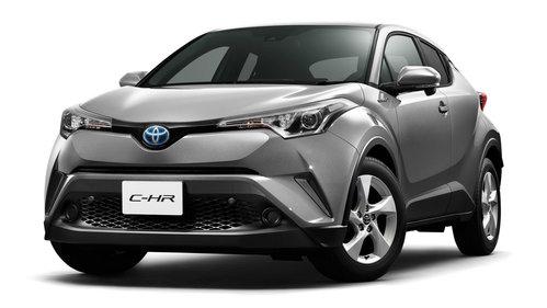 Фото автомобиля Toyota C-HR 1 поколение, ракурс: 45 цвет: серебряный