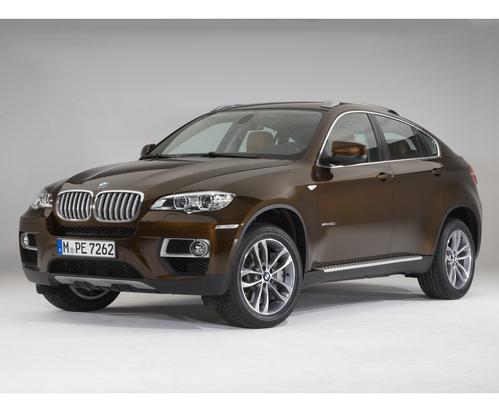 Фото автомобиля BMW X6 E71 [рестайлинг], ракурс: 45 цвет: коричневый