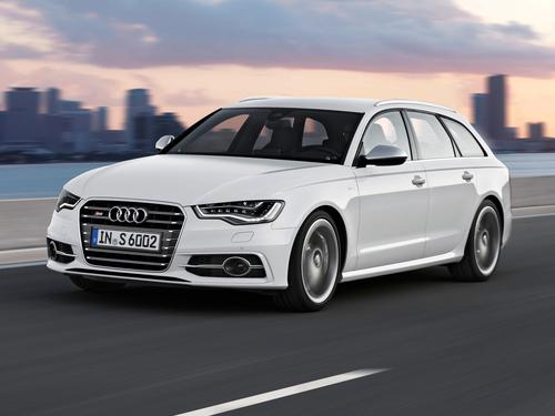Фото автомобиля Audi S6 C7, ракурс: 45 цвет: белый