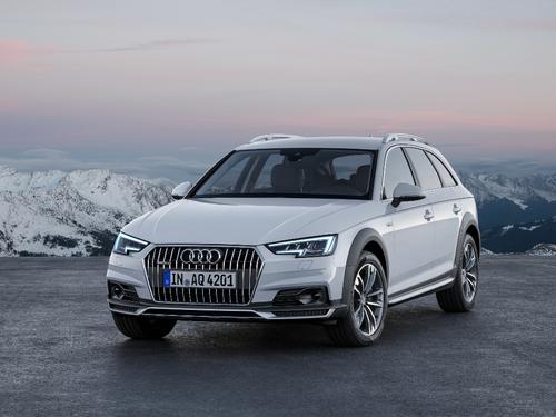 Фото автомобиля Audi A4 B9, ракурс: 45 цвет: белый