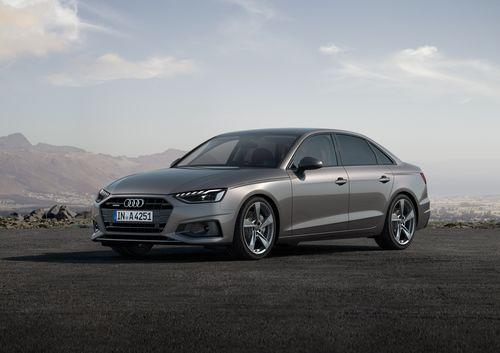Фото автомобиля Audi A4 B9 [рестайлинг], ракурс: 45 цвет: серебряный