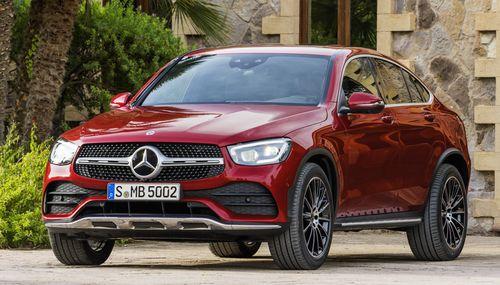 Фото автомобиля Mercedes-Benz GLC-Класс X253/C253 [рестайлинг], ракурс: 45 цвет: красный