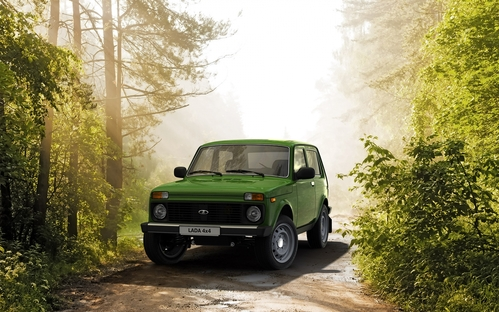 Фото автомобиля ВАЗ (Lada) 4x4 1 поколение [2-й рестайлинг], ракурс: 45 цвет: зеленый