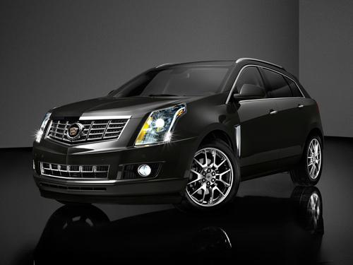 Фото автомобиля Cadillac SRX 2 поколение [рестайлинг], ракурс: 45 цвет: черный