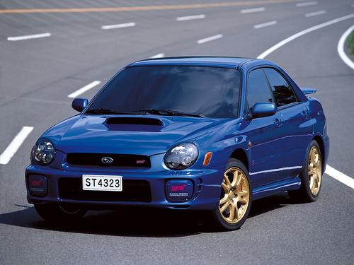 Фото автомобиля Subaru Impreza 2 поколение, ракурс: 45 цвет: синий