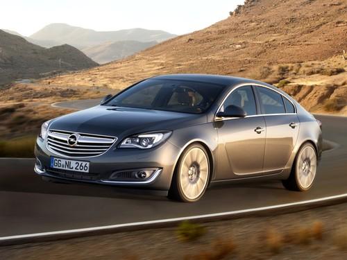 Фото автомобиля Opel Insignia A [рестайлинг], ракурс: 45 цвет: серый