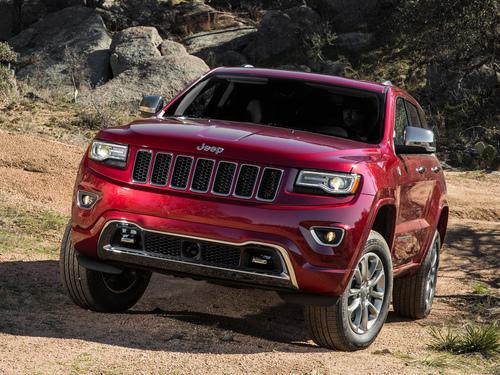 Фото автомобиля Jeep Grand Cherokee WK2 [рестайлинг], ракурс: 45 цвет: красный