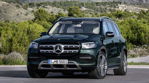Фото автомобиля Mercedes-Benz GLS-Класс X167, ракурс: 45 цвет: зеленый