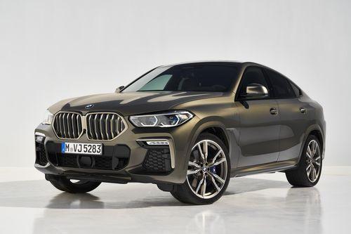 Фото автомобиля BMW X6 G06, ракурс: 45 цвет: коричневый