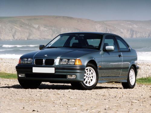 Фото автомобиля BMW 3 серия E36, ракурс: 45 цвет: серый
