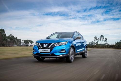 Фото автомобиля Nissan Qashqai 2 поколение [рестайлинг], ракурс: 45 цвет: голубой