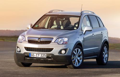 Фото автомобиля Opel Antara 1 поколение [рестайлинг], ракурс: 45 цвет: бежевый