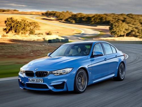 Фото автомобиля BMW M3 F80, ракурс: 45 цвет: голубой