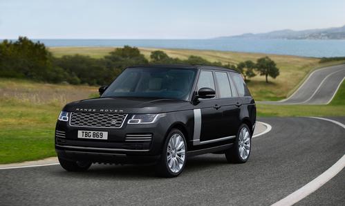 Фото автомобиля Land Rover Range Rover 4 поколение [рестайлинг], ракурс: 45 цвет: черный