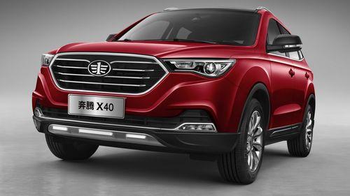 Фото автомобиля FAW Besturn X40 1 поколение, ракурс: 45 цвет: красный