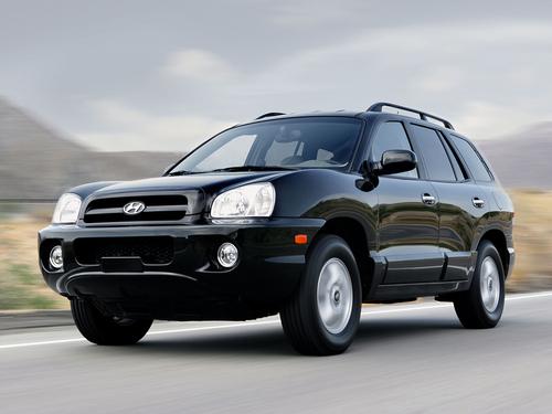 Фото автомобиля Hyundai Santa Fe SM [рестайлинг], ракурс: 45 цвет: черный