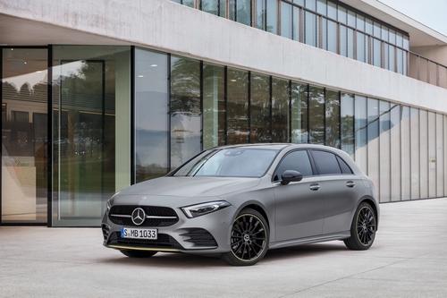 Фото автомобиля Mercedes-Benz A-Класс W177/V177, ракурс: 45 цвет: серый