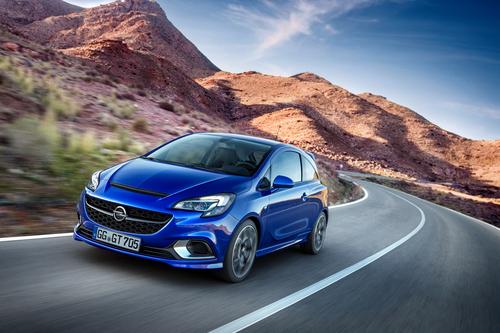 Фото автомобиля Opel Corsa E, ракурс: 45 цвет: синий