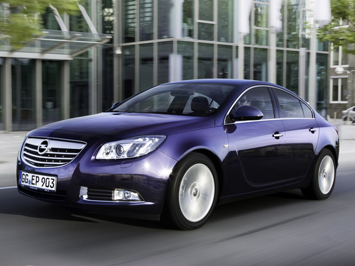 Фото автомобиля Opel Insignia A, ракурс: 45 цвет: синий