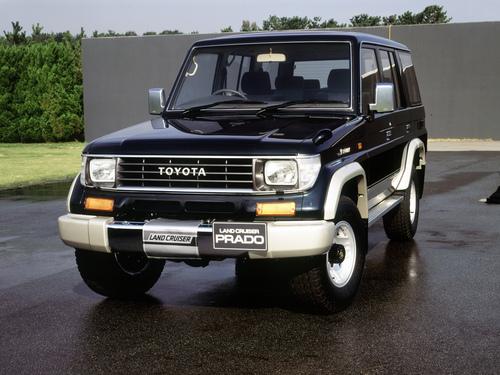 Фото автомобиля Toyota Land Cruiser Prado J70, ракурс: 45