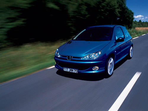 Фото автомобиля Peugeot 206 1 поколение [рестайлинг], ракурс: 45 цвет: синий