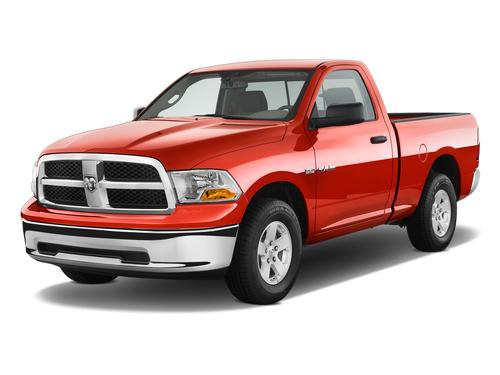 Фото автомобиля Dodge Ram 4 поколение, ракурс: 45 цвет: красный