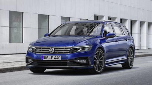 Фото автомобиля Volkswagen Passat B8 [рестайлинг], ракурс: 45 цвет: синий