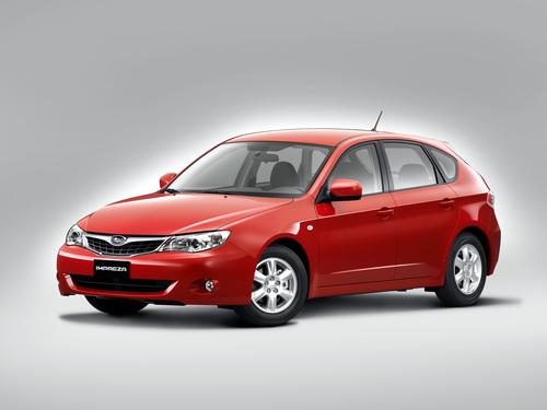 Фото автомобиля Subaru Impreza 3 поколение, ракурс: 45 цвет: красный