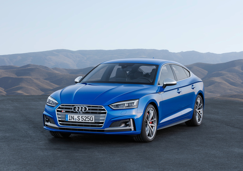 Фото автомобиля Audi S5 2 поколение, ракурс: 45 цвет: синий