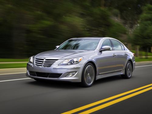 Фото автомобиля Hyundai Genesis 1 поколение [рестайлинг], ракурс: 45