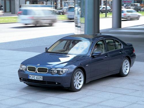 Фото автомобиля BMW 7 серия E65/E66, ракурс: 45 цвет: синий