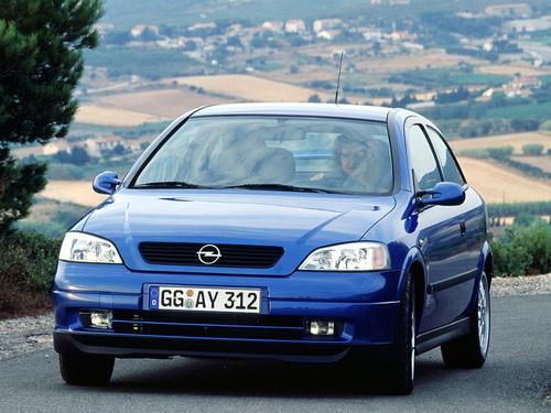 Фото автомобиля Opel Astra G, ракурс: 45 цвет: синий