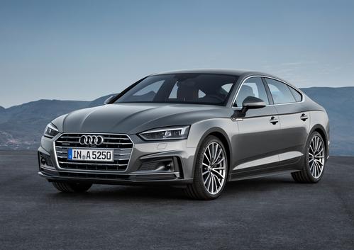 Фото автомобиля Audi A5 2 поколение, ракурс: 45 цвет: серый