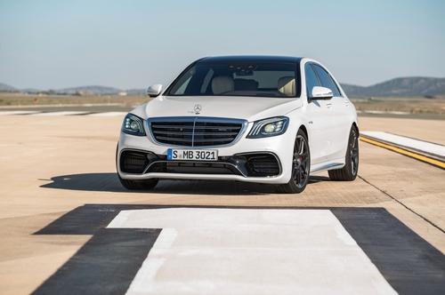 Фото автомобиля Mercedes-Benz S-Класс W222/C217/A217 [рестайлинг], ракурс: 45 цвет: белый