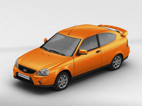 Фото автомобиля ВАЗ (Lada) Priora 1 поколение [рестайлинг], ракурс: 45 цвет: оранжевый