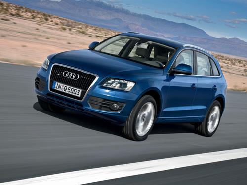 Фото автомобиля Audi Q5 8R, ракурс: 45 цвет: синий