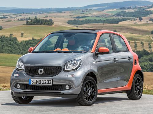 Фото автомобиля Smart Forfour 2 поколение, ракурс: 45 цвет: серый
